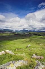 blue skys over highlands