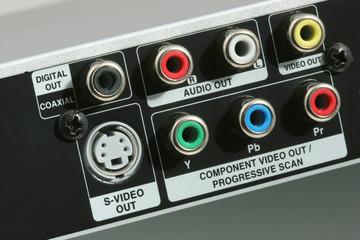 input plugs closeup