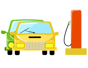car on petrol station