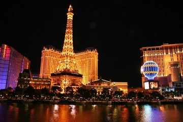 Tuinposter Las Vegas evening in las vegas
