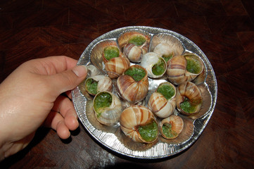 assiette d'escargots