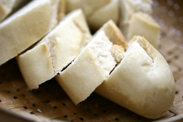 slices of steaming fresh crust