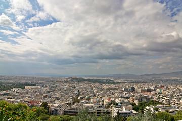athens wide-angle view