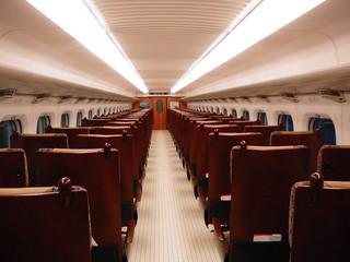 inside the shinkansen train