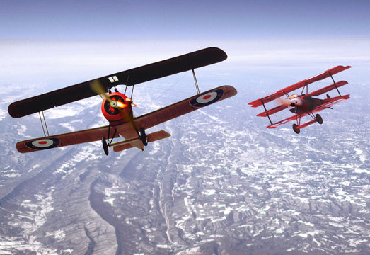 biplane dogfight