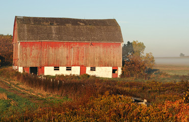 barn after sunrise