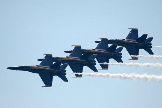 navy blue angels in flight