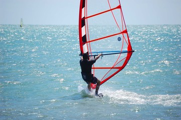 windsurfing off virginia key
