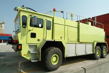 fire truck in port