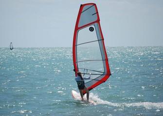 lady windsurfer