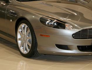 Deurstickers Snelle auto s exotic silver car