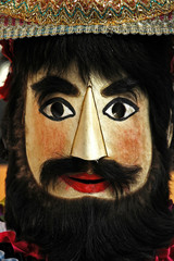 portugal, porto: traditional iberic ritual mask from primitive i
