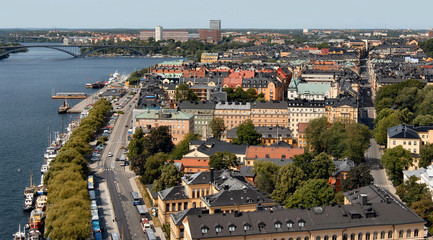 view from royal palace tower, stockholm, sweden