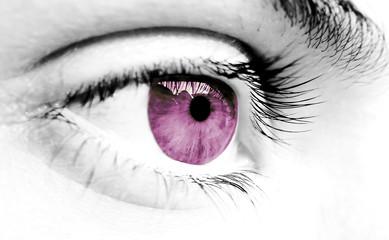 pink girl eye