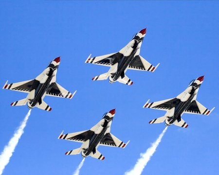 military jets in formation