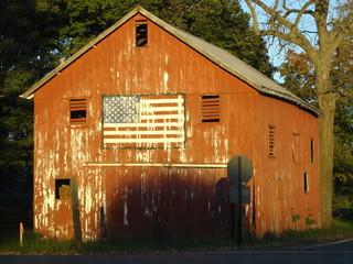 patriotic barn in ohio