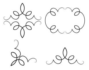 set of original design elements