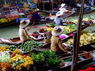 Poster Bangkok floating market in bangkok2