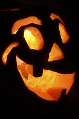 citrouille d'halloween illuminée