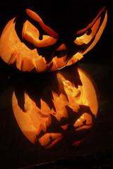 citrouille halloween enflammée