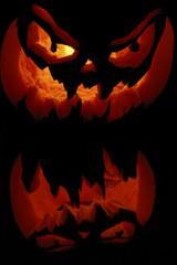 citrouille halloween enflammée 3