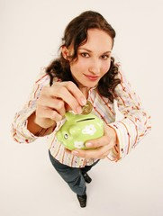woman with piggy bank