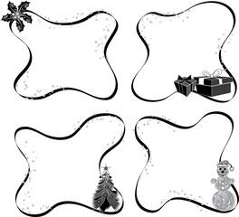 christmas frame, elements for design