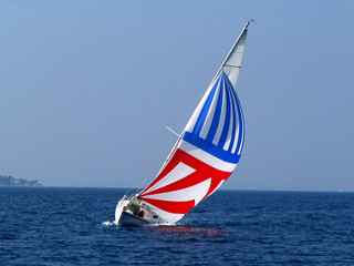 yacht with big sail