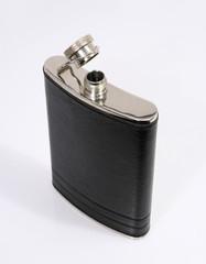 open silver flask
