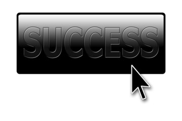 """success"" button with cursor"