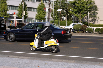 scooter in the traffic