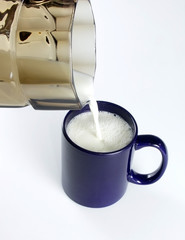 fresh milk in a mug