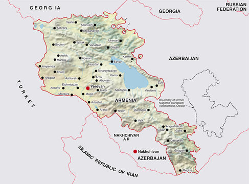 armenien landkarte armenia map