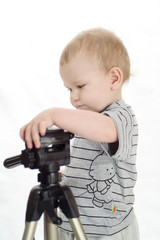 baby with tripod 1