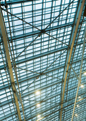 ceiling of office building