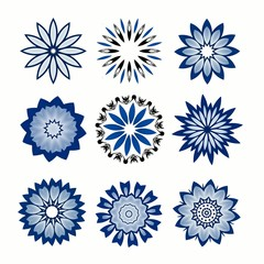 snowflakes - flowers for design artwork.