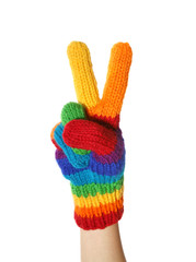 rainbow gloves