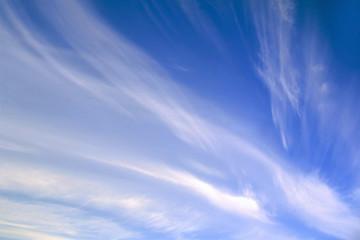 blue sky, great clouds