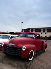 Fototapete - old hot rod truck