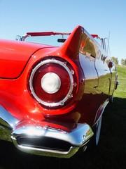 Fototapete - red classic car tail lamp