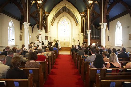 church during a wedding