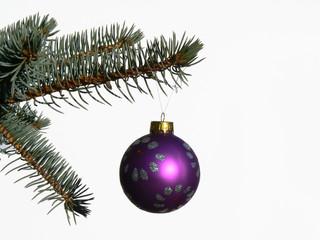 christmas toy on a fir tree