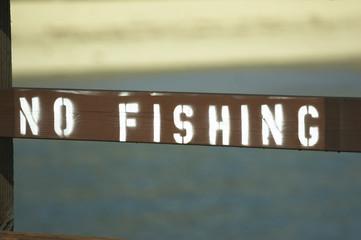 schild no fishing