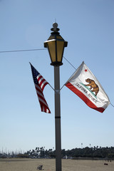 flag of california and usa