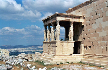 statues at the acropolis