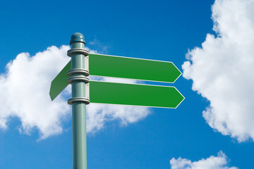 blank street sign (w/clipping path)