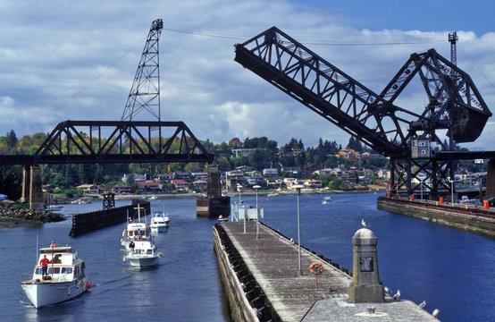 drawbridge at the locks
