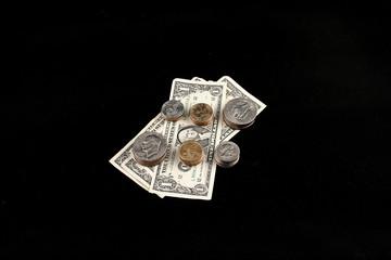 dollars on black