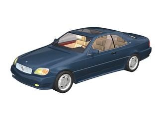automobile de luxe bleue