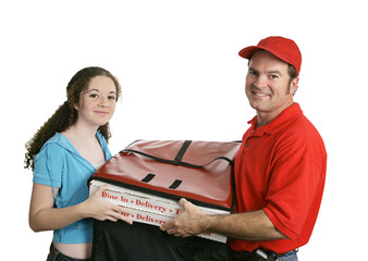 pizza man & customer